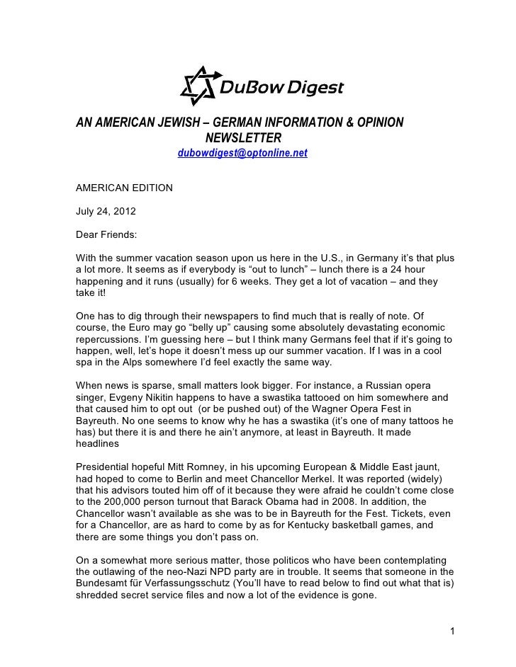 Duy bow digest american edition july 24, 2012