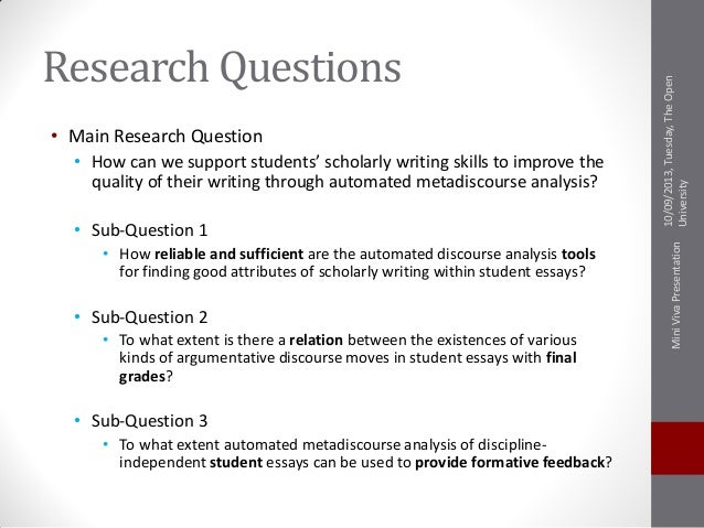 Dissertation viva questions