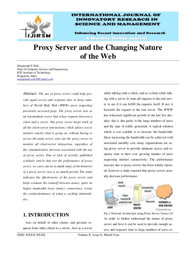 Ijirsm manjunath-n-wali-proxy-server-and-the-changing-nature-of-the-web