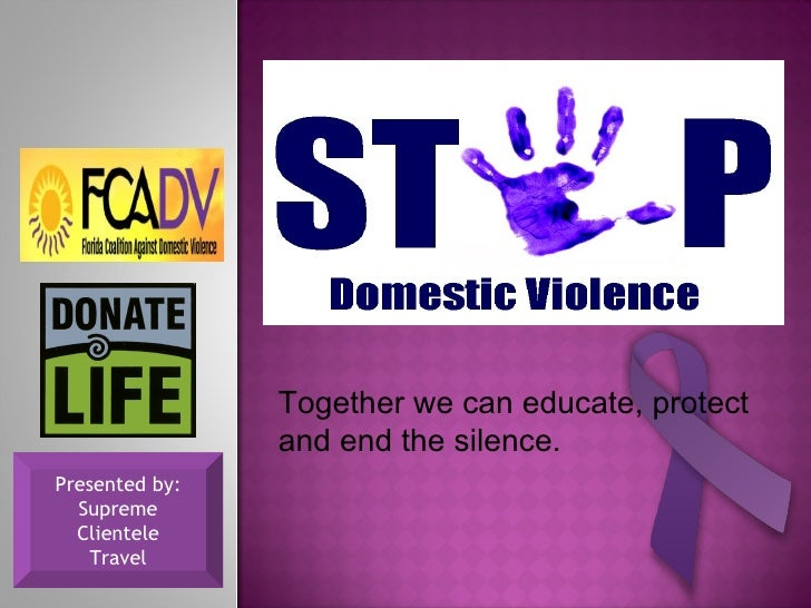 Together we can educate, protect and end the silence. Presented by: Supreme Clientele Travel