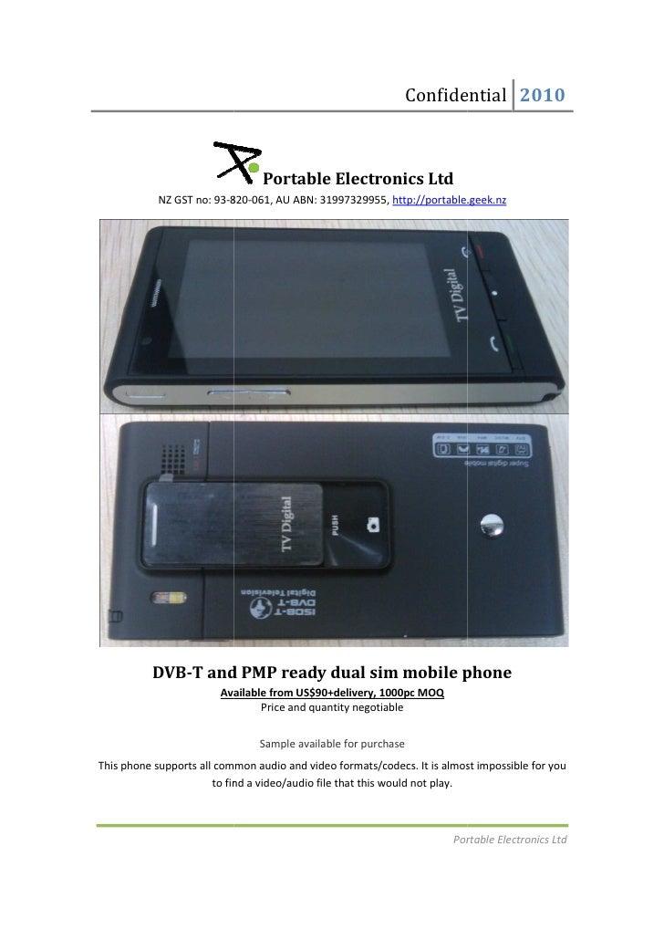 DVB-T and PMP ready dual sim mobile phone