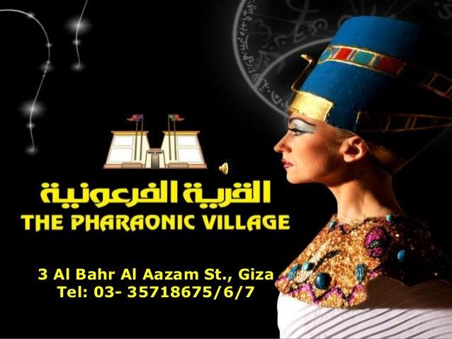 3 Al Bahr Al Aazam St., Giza  Tel: 03- 35718675/6/7