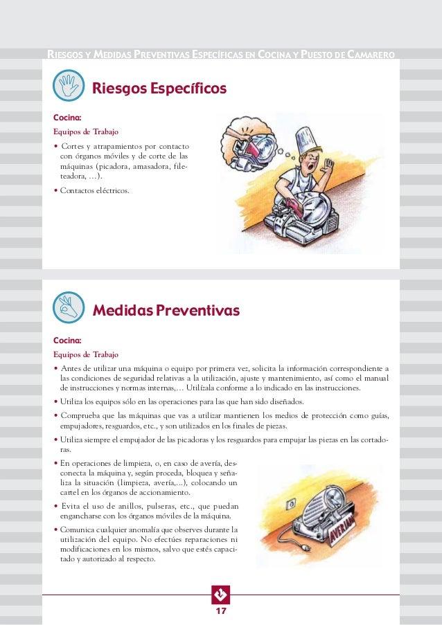 Manual de seg y salud en cocinas bares y restaurantes for Manual operaciones basicas de cocina