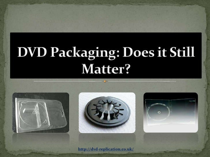 Dvd packaging does it still matter?