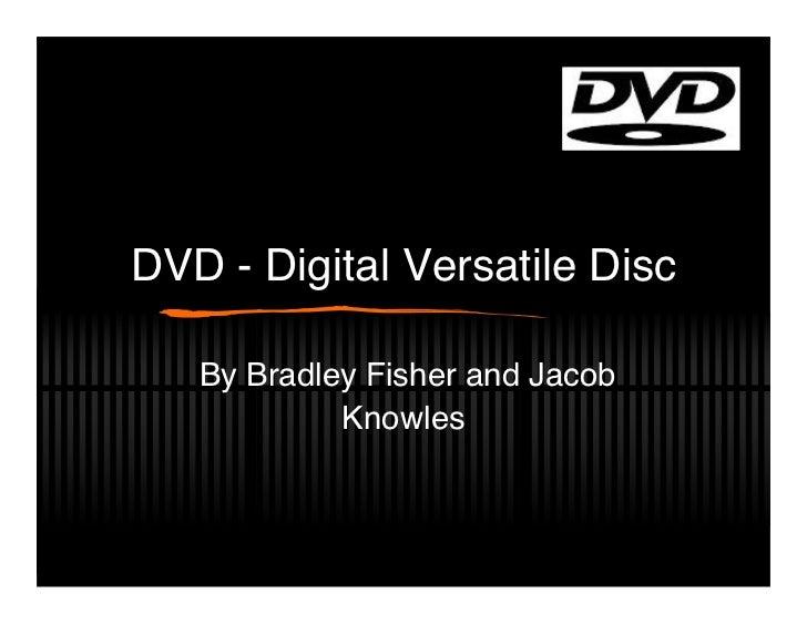 Dvd presentation