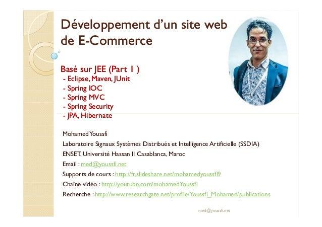 Développement dd''uunn ssiittee wweebb  ddee EE-CCoommmmeerrccee  BBaasséé ssuurr JJEEEE ((PPaarrtt 11 ))  - EEcclliippsse...