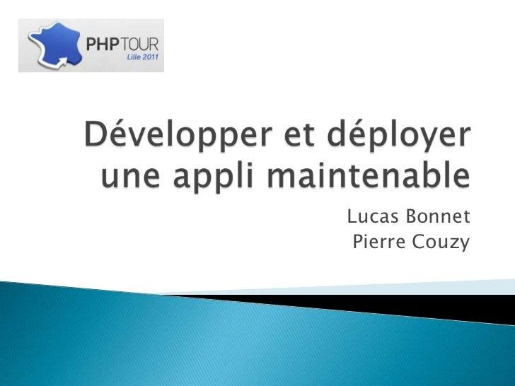 Développer et déployer une application php maintenable