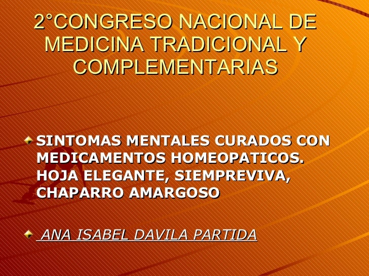 DáVila. 2° Congreso. Sintomas Mentales Curados...