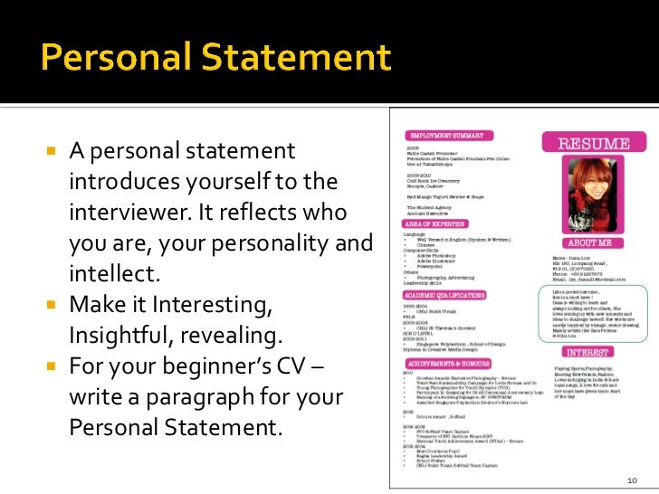what are the four main steps to writing an effective personal statement There are four main steps to creating a résumé compiling information about  the next step is to organize the personal information you  objective statement.