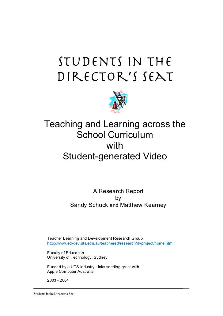 Students in the director's seat: Teaching and learning across the school curriculum with student-generated video.