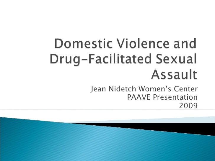 Jean Nidetch Women's Center          PAAVE Presentation                       2009