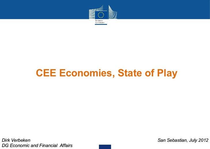 CEE Economies, State of PlayDirk Verbeken                          San Sebastian, July 2012DG Economic and Financial Affairs