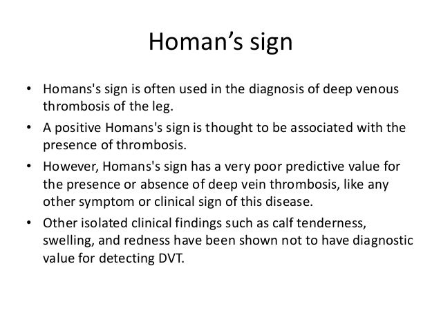 homans sign
