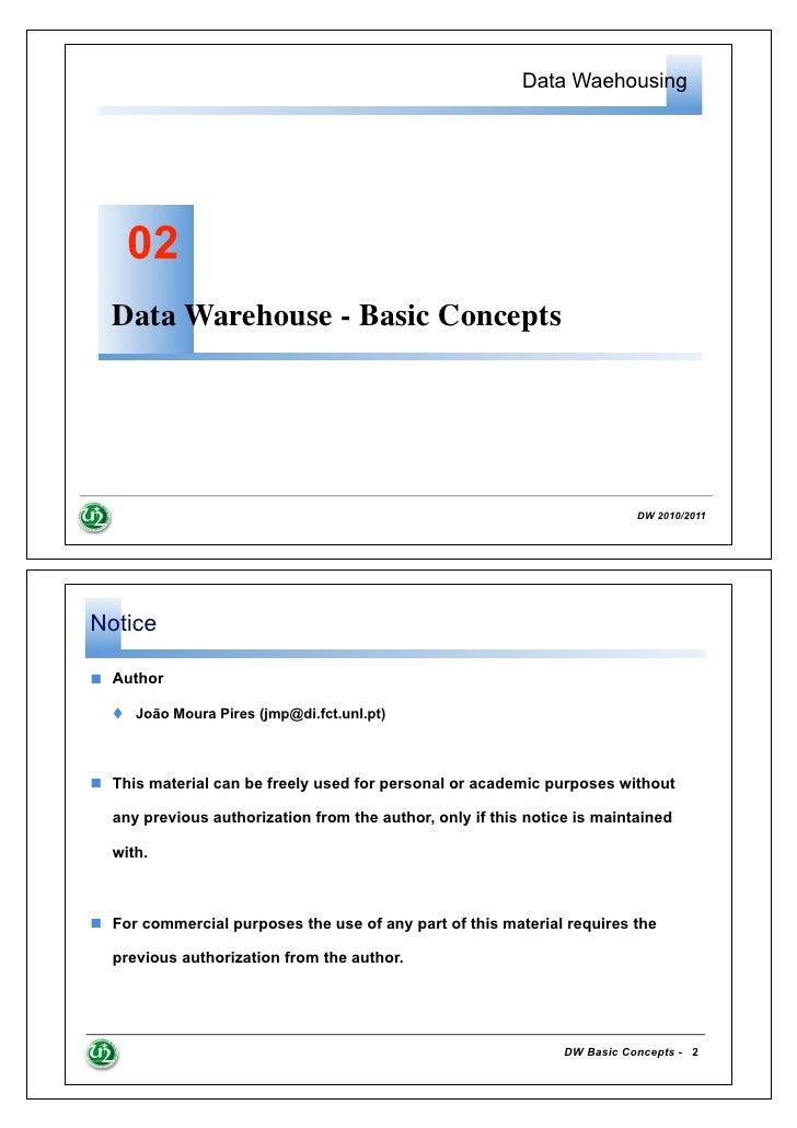 Data Waehousing    02  Data Warehouse - Basic Concepts                                                                    ...