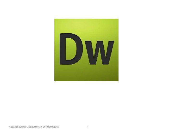 Data Warehousing<br />KI091335 / 3 sks / 7<br />1<br />Hadziq Fabroyir . Department of Informatics<br />