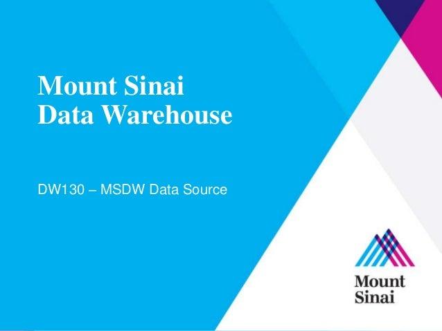 Dw130   msdw data source v3