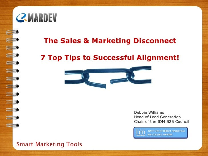 Sales & Marketing Alignment presented by Debbie Williams at TFM London 2010