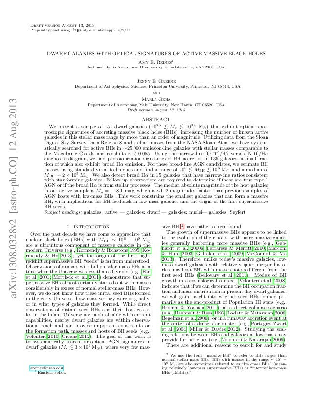 Draft version August 13, 2013 A Preprint typeset using L TEX style emulateapj v. 5/2/11  DWARF GALAXIES WITH OPTICAL SIGNA...