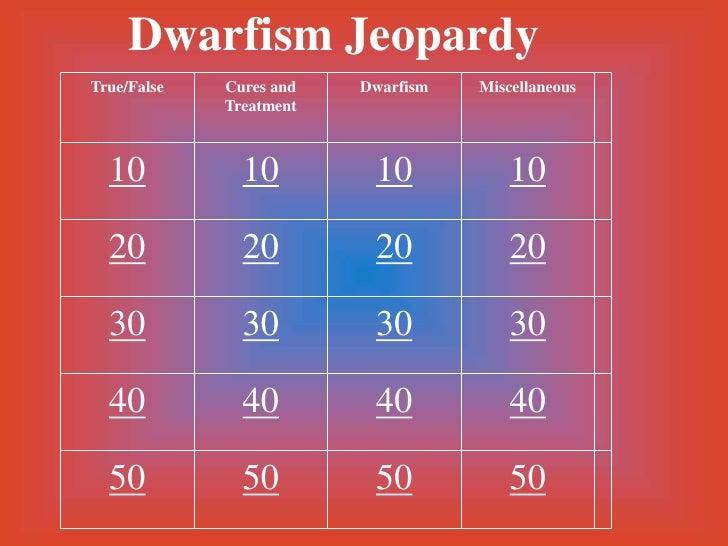 Dwarfism Jeopardy