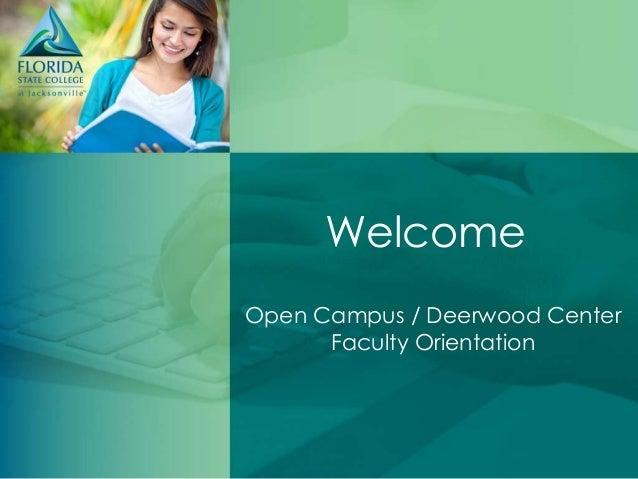 Open Campus / Deerwood Center Adjunct Orientation