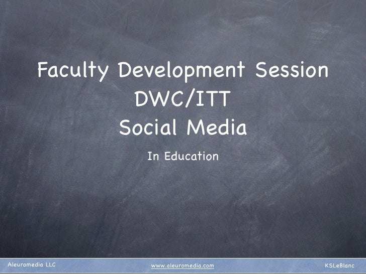 Teaching the teachers about social media.
