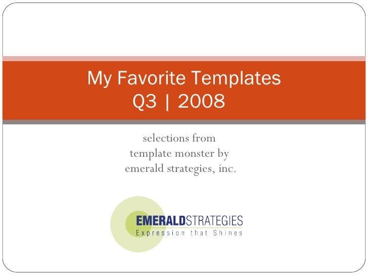 Favorite CSS Templates Q3 2008
