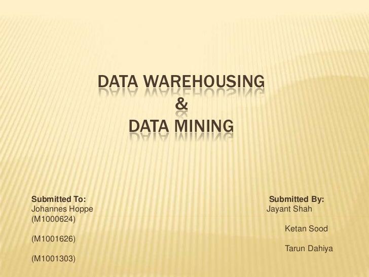 DMDW 5. Student Presentation - Pentaho Data Integration (Kettle)