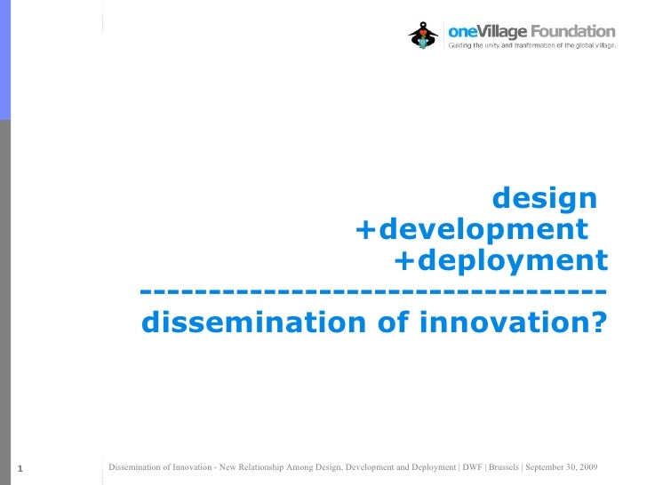 Dissemination of Innovation