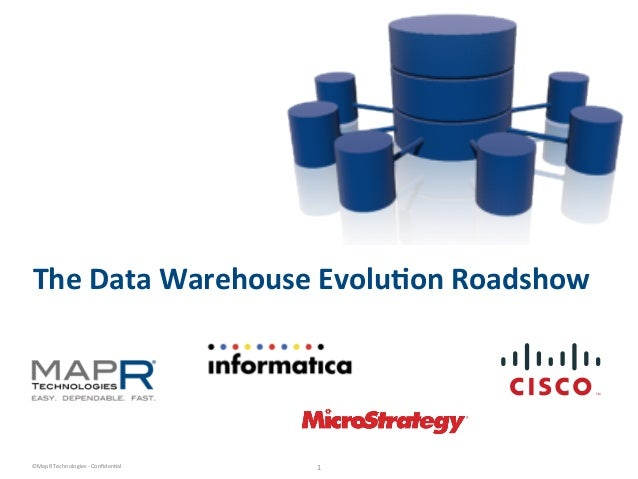 The  Data  Warehouse  Evolu0on  Roadshow    ©MapR  Technologies  -‐  Confiden6al    1