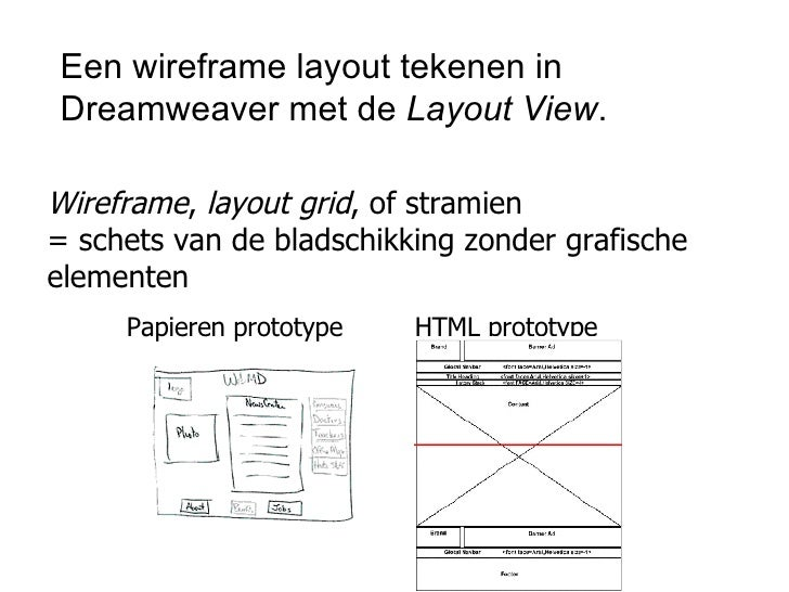 Dw Wireframe In Layoutview