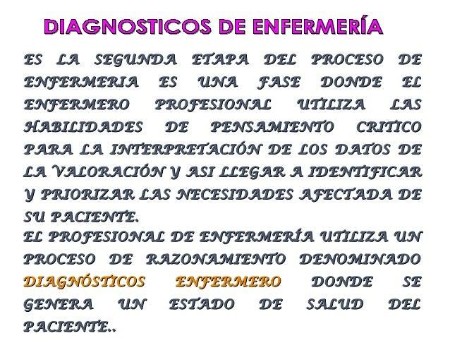 ES   LA   SEGUNDA       ETAPA   DEL    PROCESO   DEENFERMERIA         ES   UNA     FASE    DONDE     ELENFERMERO         P...
