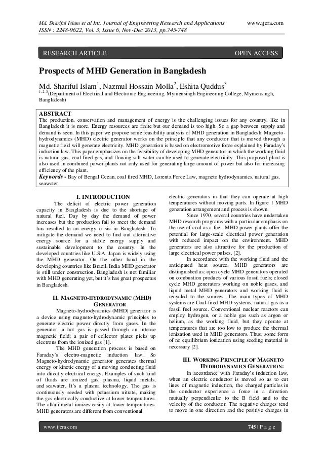Md. Shariful Islam et al Int. Journal of Engineering Research and Applications  www.ijera.com  ISSN : 2248-9622, Vol. 3, I...