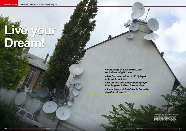DXer REPORT                    Satelliten Enthusiast in Budapest, UngarnLive yourDream!                                   ...