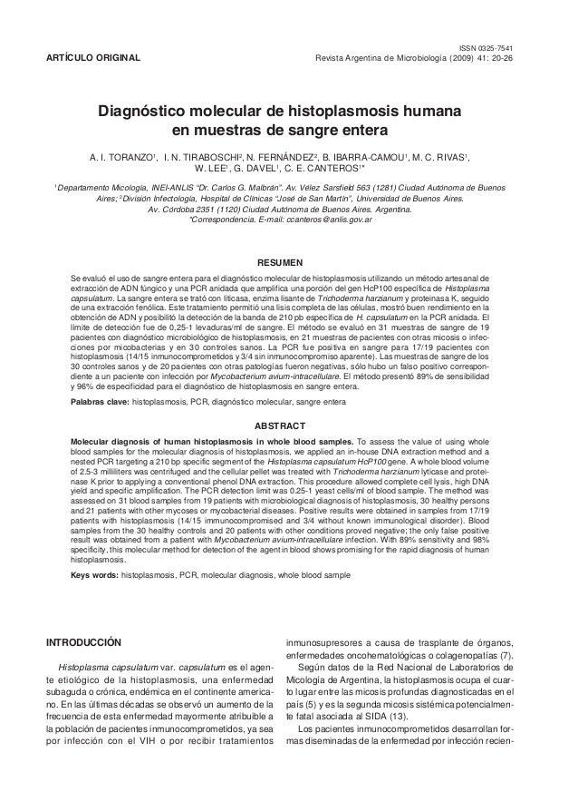 20 Revista Argentina de Microbiología (2009) 41: 20-26ISSN 0325-7541 Revista Argentina de Microbiología (2009) 41: 20-26AR...