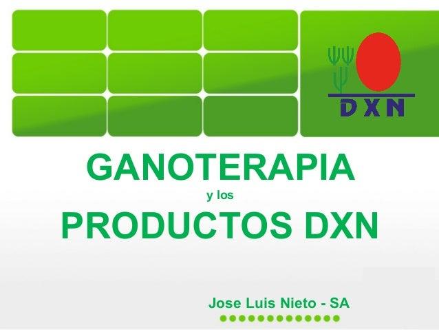 GANOTERAPIA y los  PRODUCTOS DXN Jose Luis Nieto - SA