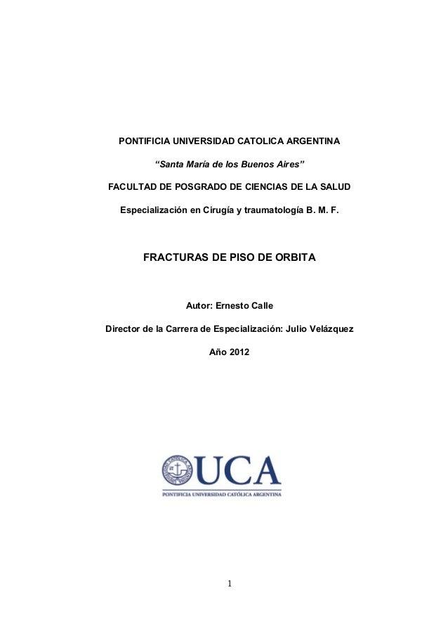 """PONTIFICIA UNIVERSIDAD CATOLICA ARGENTINA           """"Santa María de los Buenos Aires""""FACULTAD DE POSGRADO DE CIENCIAS DE L..."""