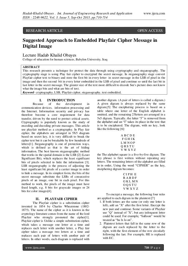 Hadab Khalid Obayes . Int. Journal of Engineering Research and Application ISSN : 2248-9622, Vol. 3, Issue 5, Sep-Oct 2013...