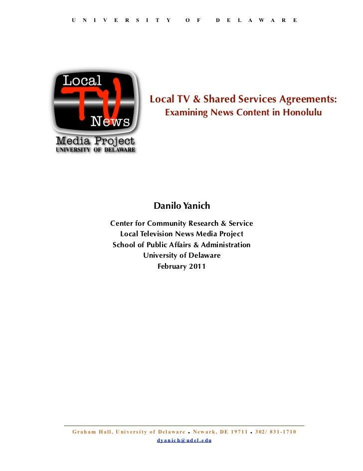D yanich, local tv & shared services agreements, honolulu