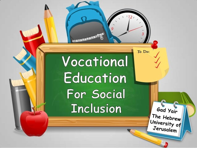 Presentation: vocational education and social inclusion in Israel