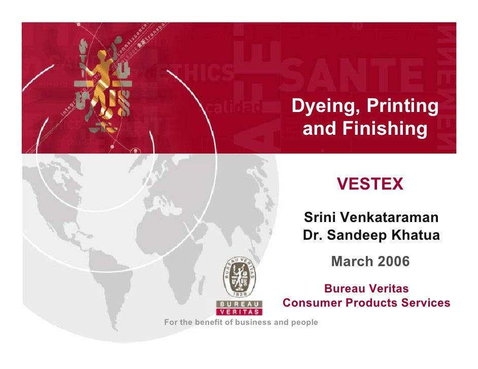 Dying Printing Finishing