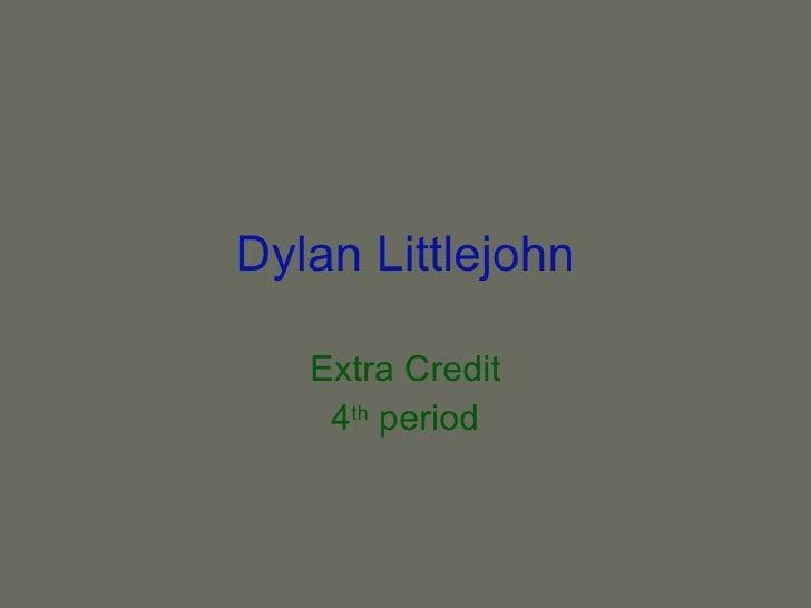 Dylan Littlejohn's extra credit