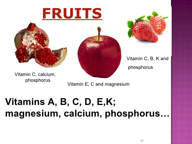 Presentation On Healthy Eating on A Great Fruits And Vegetables List