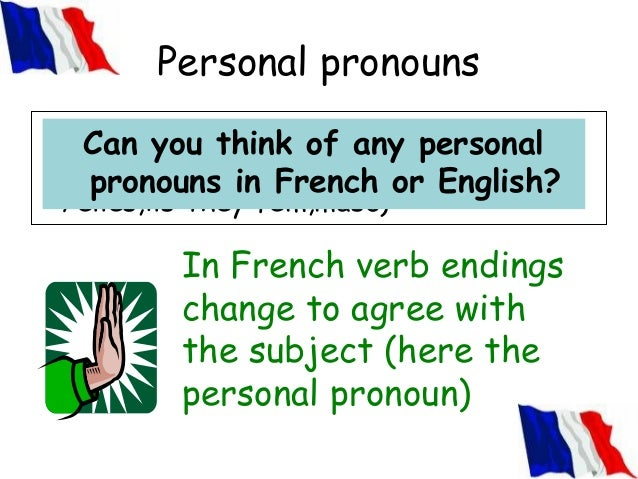 French Present Tense Verb Endings French Verb Endings Change