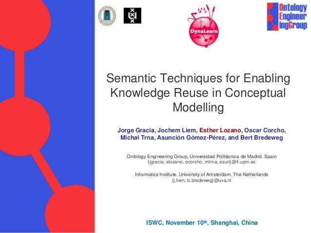 Semantic Techniques for Enabling Knowledge Reuse in Conceptual Modelling Jorge Gracia, Jochem Liem, Esther Lozano, Oscar C...