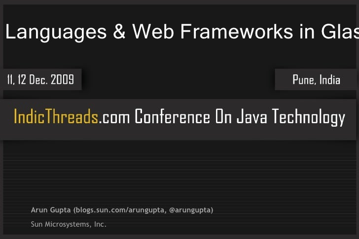 Dynamic Languages Web Frameworks Indicthreads 2009