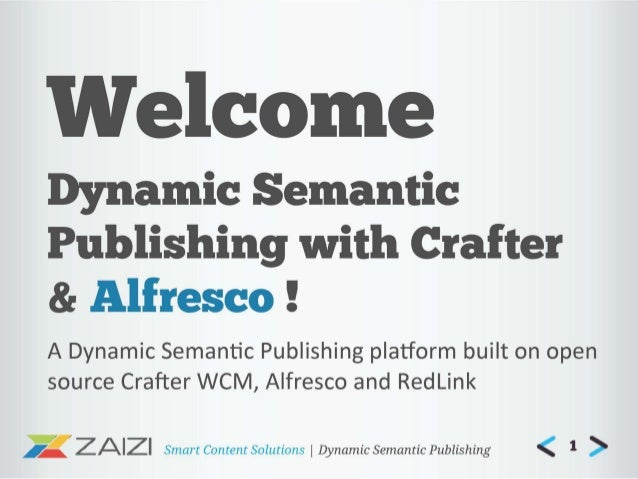Redlink - Dynamic Semantic Publishing using Crafter and Alfresco by Zaizi