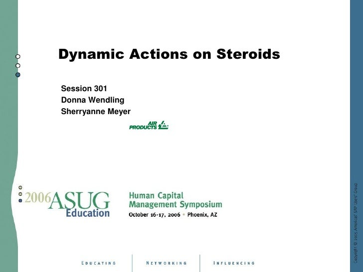 Dynamic Actions on Steroids  Session 301 Donna Wendling Sherryanne Meyer