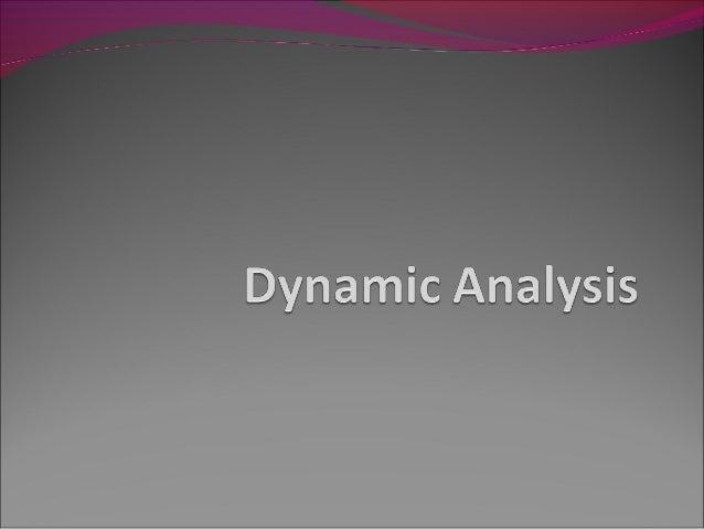 Dynamic analysis in Software Testing