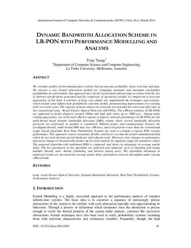 International Journal of Computer Networks & Communications (IJCNC) Vol.6, No.2, March 2014 DOI : 10.5121/ijcnc.2014.6201 ...