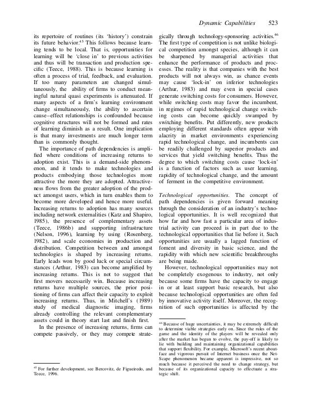 strategic management in dynamic environments essay Order description deborah enters your office, and you notice that she looks apprehensive hi, deborah what's up you ask, hoping that nothing is wrong well, your team is doing an excellent job researching, and you've been keeping me up-to-date on your findings my concern is that.